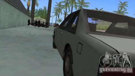 Premier Coupe для GTA San Andreas вид сзади
