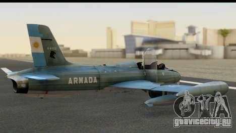 Aermacchi MB-326 ARM для GTA San Andreas вид слева