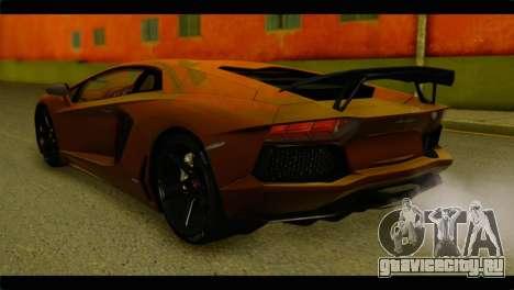Lamborghini Aventador LP700-4 для GTA San Andreas вид слева