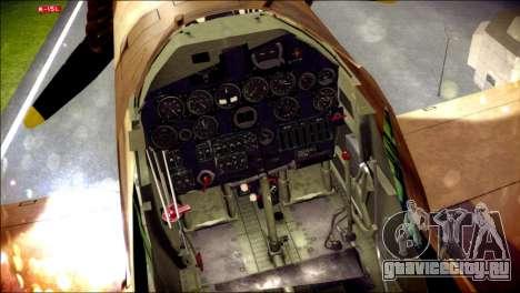 P-40E 325th Fighter Group для GTA San Andreas вид справа