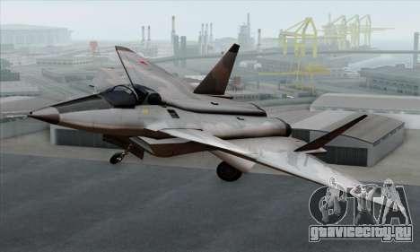 MIG 1.44 Flatpack Russian Air Force для GTA San Andreas вид сзади