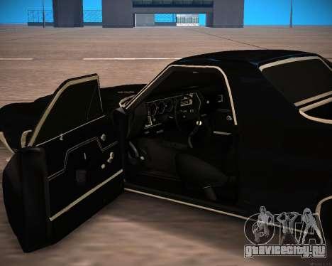 Chevrolet El Camino SS Green Hornet для GTA San Andreas вид сзади