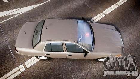 Ford Crown Victoria NYPD Unmarked [ELS] Old для GTA 4 вид справа