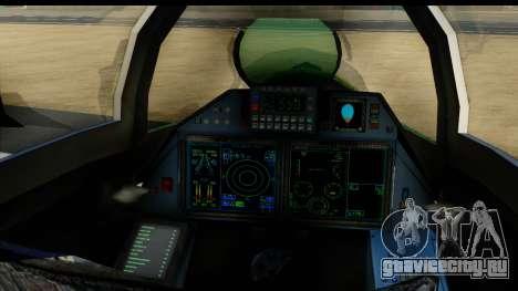 SU-35BM Yuktobanian Air Force для GTA San Andreas вид сзади