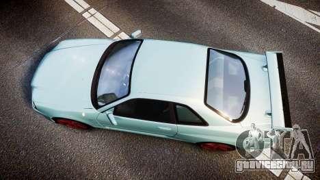 Nissan Skyline R34 GT-R M-Spec Nur для GTA 4 вид справа