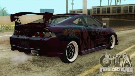 Acura RSX Hinata Itasha для GTA San Andreas вид слева