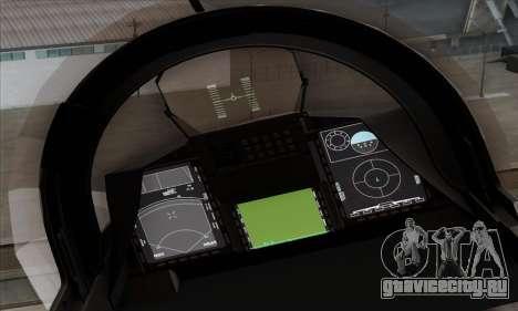 JAS-39 Gripen NG ACAH для GTA San Andreas вид сзади