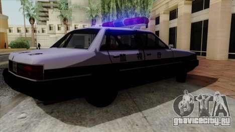 Karin Primo Police для GTA San Andreas вид сзади