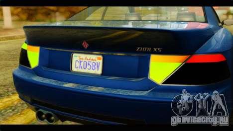 GTA 5 Ubermacht Zion XS для GTA San Andreas вид справа