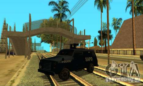 Beta FBI Truck для GTA San Andreas вид слева