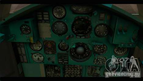 MIG-31 Soviet для GTA San Andreas вид сзади