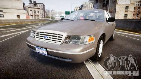Ford Crown Victoria NYPD Unmarked [ELS] Old для GTA 4