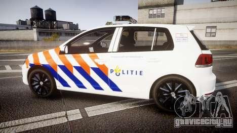 Volkswagen Golf Mk6 Dutch Police [ELS] для GTA 4 вид слева