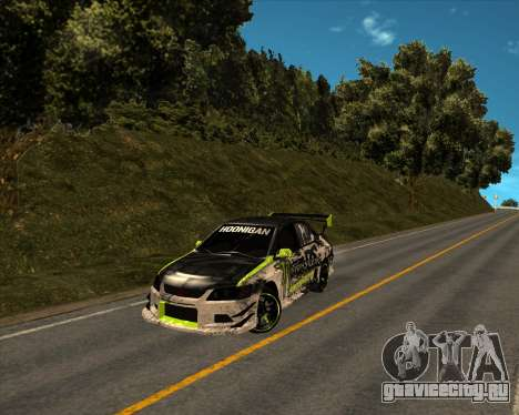 Mitsubishi Lancer Evolution IX Monster Energy DC для GTA San Andreas