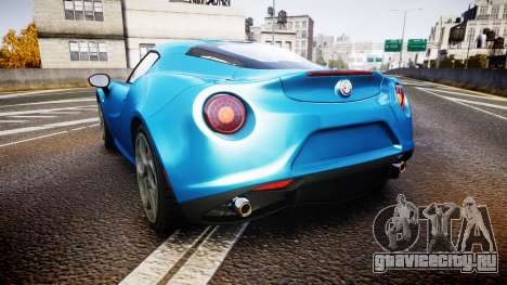 Alfa Romeo 4C 2014 HD Textures для GTA 4 вид сзади слева