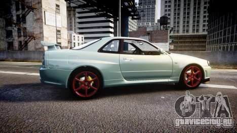 Nissan Skyline R34 GT-R M-Spec Nur для GTA 4 вид слева