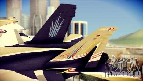 FA-18D Hornet RCAF для GTA San Andreas вид сзади слева