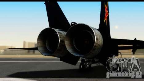 Mikoyan-Gurevich MIG-31 China Air Force для GTA San Andreas вид сзади