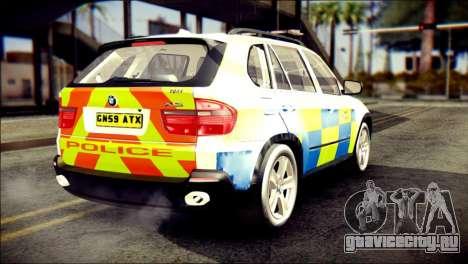 BMW X5 Kent Police RPU для GTA San Andreas вид слева