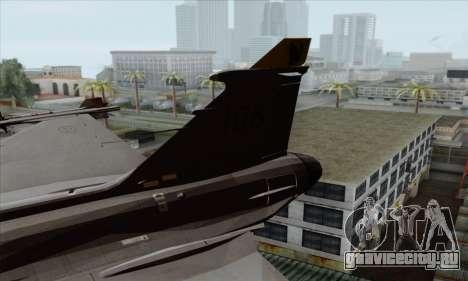 JAS-39 Gripen NG ACAH для GTA San Andreas вид сзади слева