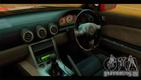 Nissan Silvia S14 Yuuki Asuna Itasha для GTA San Andreas вид справа
