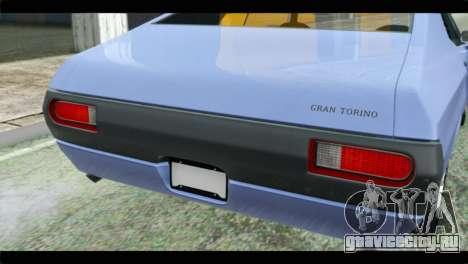 Ford Gran Torino для GTA San Andreas вид сзади