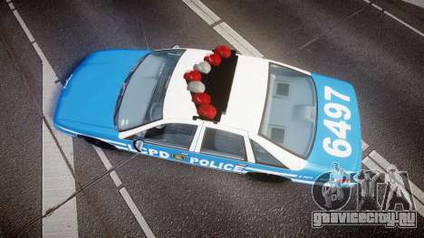Chevrolet Caprice 1993 LCPD Without Hubcabs ELS для GTA 4 вид справа
