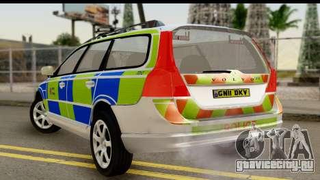 Volvo V70 Kent Police для GTA San Andreas вид слева