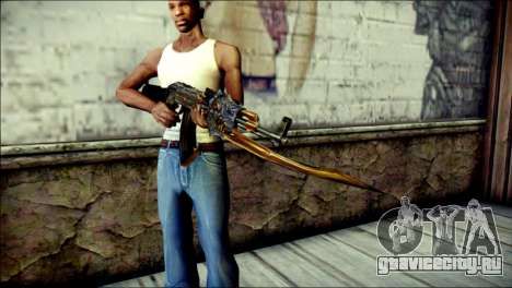 AK-47 Inferno для GTA San Andreas третий скриншот