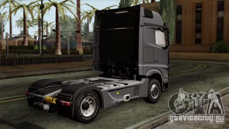 Mercedes-Benz Actros MP4 Euro 6 для GTA San Andreas вид слева