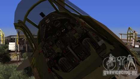 Pokryshkin P-39N Airacobra для GTA San Andreas вид справа