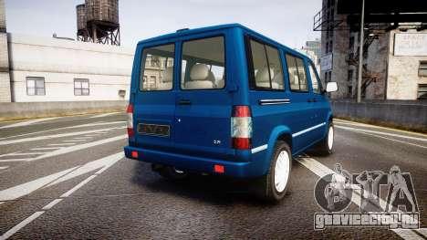 УАЗ-3165 Симба для GTA 4 вид сзади слева