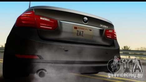 BMW 335i Coupe 2012 для GTA San Andreas вид справа