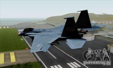 McDonnell Douglas F-15D Eagle GRDF для GTA San Andreas вид слева
