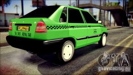 Kia Pride 141 Iranian Taxi для GTA San Andreas вид слева