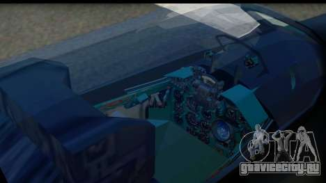 MIG-21F Fishbed B URSS Custom для GTA San Andreas вид сзади