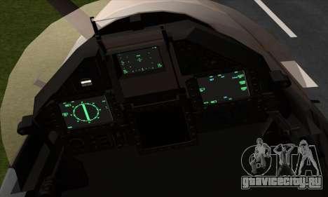 Dassault Mirage 2000-5 ACAH для GTA San Andreas вид сзади