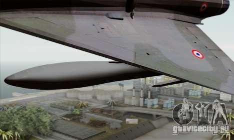 Dassault Mirage 2000-N SAM для GTA San Andreas вид справа