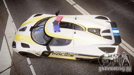 Koenigsegg Agera 2013 Police [EPM] v1.1 PJ1 для GTA 4 вид справа