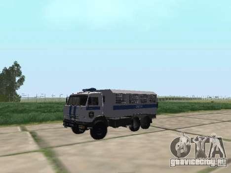 КамАЗ-43114 ОМОН для GTA San Andreas вид слева