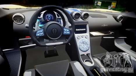 Koenigsegg Agera 2013 Police [EPM] v1.1 PJ1 для GTA 4 вид изнутри