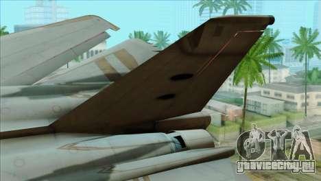 General Dynamics F-111 Aardvark для GTA San Andreas вид сзади слева