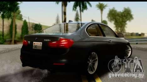 BMW 335i Coupe 2012 для GTA San Andreas вид слева