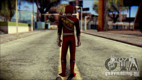 Power Rangers Kyoryu Red Skin для GTA San Andreas второй скриншот