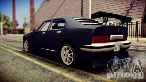 Sentinel GT для GTA San Andreas вид слева