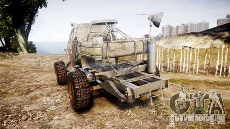 Военный бронированный грузовик для GTA 4 вид сзади слева