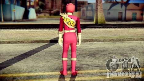 Power Rangers Kyoryu Pink Skin для GTA San Andreas второй скриншот