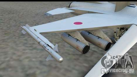 F-2A Zero White для GTA San Andreas вид справа