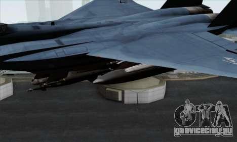 McDonnell Douglas F-15D Eagle GRDF для GTA San Andreas вид справа