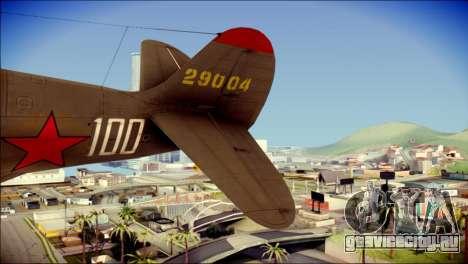 Pokryshkin P-39N Airacobra для GTA San Andreas вид сзади слева